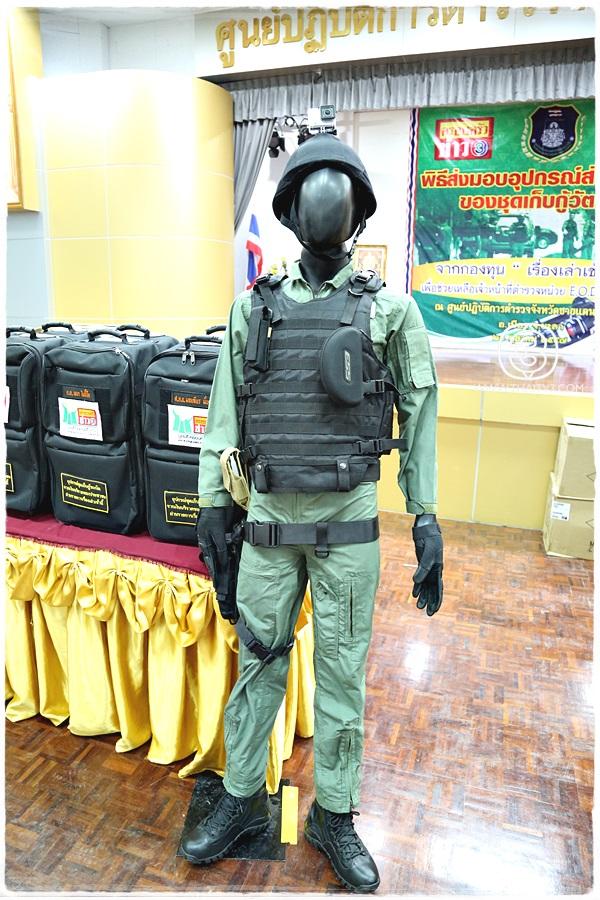 มูลนิธิครอบครัวข่าว 3 เดินทางไปส่งมอบชุดอุปกรณ์เก็บกู้วัตถุระเบิด (EOD) ที่จังหวัดยะลา