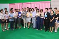 Kyunghee University ประเทศเกาหลี  จับกลุ่ม ศึกษาการทำงานกับครอบครัวข่าว