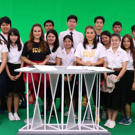 แกลเลอรีช่อง3 คณะนักศึกษาม.ราชภัฏบ้านสมเด็จเจ้าพระยา รวมกลุ่มศึกษางาน รายการโต๊ะข่าวบันเทิง