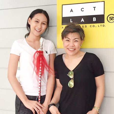แก้ม  ชัญญา เตรียมความพร้อมด้านการแสดง(Acting) กับครูหลีเจิน ที่โรงเรียนสอนการแสดง Act Lab55