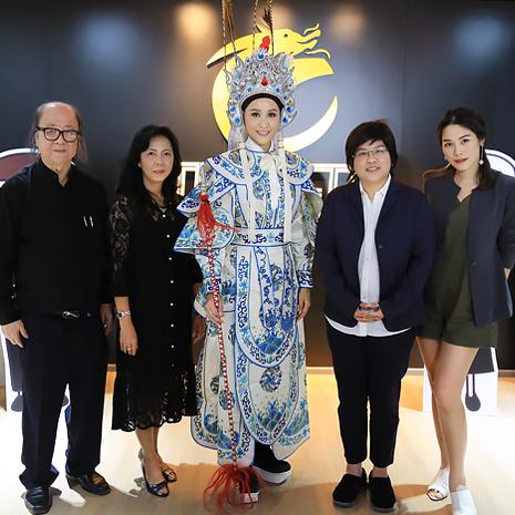 แก้ม  ชัญญา เตรียมความพร้อมด้านการแสดงอุปรากรจีนกับครูครูเม้ง ป.ปลา ที่ ศูนย์ศึกษาและพัฒนาอุปรากรจีน