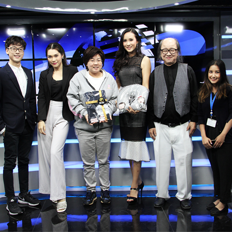 แก้ม ชัญญา ให้สัมภาษณ์รายการ China Review รายการกากีนัง ทางช่อง CCTV