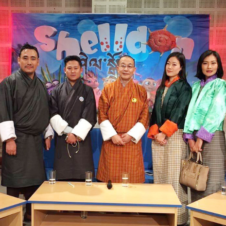 แกลเลอรีช่อง3 เชลล์ดอน แอนิเมชั่นไทยได้รับเกียรติไปออกอากาศที่ภูฏานในวโรกาสพิเศษ