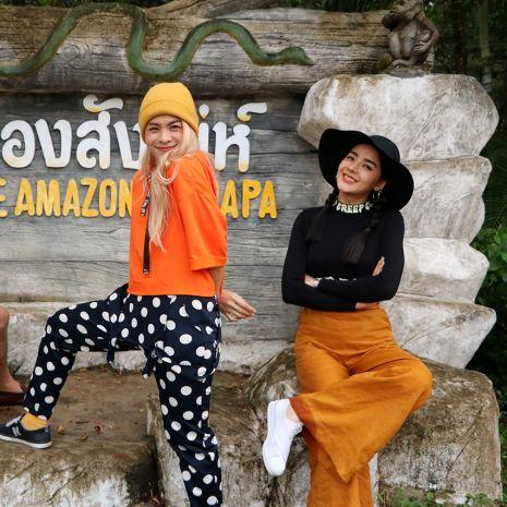 """แกลเลอรีช่อง3 """"ปุยฝ้าย-พะแพง"""" ใจสู้ ท่องป่า บุกดง งู!!!  ในรายการ """"ตลาดเด็ดประเทศไทย"""""""