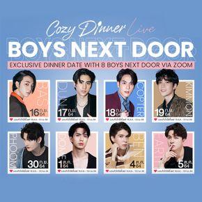 """แกลเลอรีช่อง3 """"COZY DINNER LIVE : BOYS NEXT DOOR"""""""