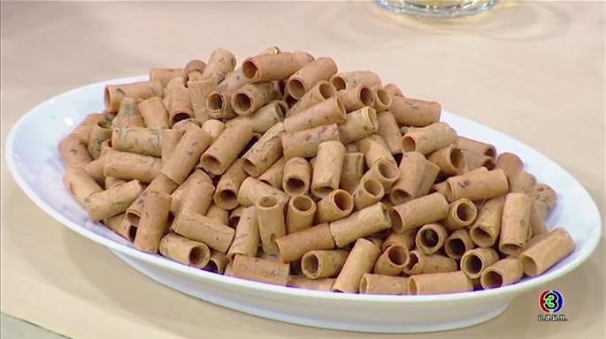 ดูละครย้อนหลัง ครัวคุณต๋อย | ขนมทองม้วนกุ้งแห้งใบผักชี ร้านแก้วเจ้าจอม