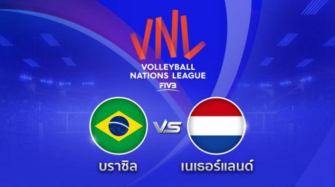 ดูรายการย้อนหลัง บราซิล นำ เนเธอร์แลนด์ 2 - 0 | เซตที่ 2 | 28-06-2018